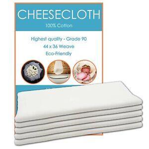 Edenwood - 100% Organic Cotton Cheesecloth Strainer - Grade 90 - 1 to 5 Yards