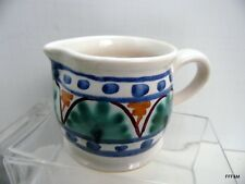 Jamestown Collection Hand Built-Painted Ceramic Creamer Pitcher Urban Farmhouse