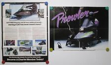 Vintage 1989 Cat's Pride Poster Arctic Cat Snowmobile Enter The Prowler