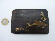 Superb Japanese Meiji period damascene cigarette case - signed