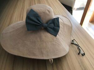 Ladies Large Floppy Brim Sun Hat