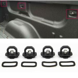 4x Pickup Truck Bed Tie Down Anchor SideWall Ring for GMC Sierra Chevy Silverado