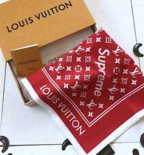 New Supreme x Louis Vuitton LV Monogram Bandana Red 100% Authentic JAPAN