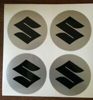 4x 40 mm fits suzuki bk wheel STICKERS center badge centre trim cap hub alloy