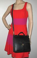 COACH Willis 9927 Vintage Black Leather Messenger Bag - Made In U.S.A