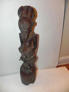 "Arts of Africa - Songye Fetish - DRC  Congo - 21"" Height x 4"" Wide"