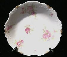Collectible Imoges Salad/Fruit Plate With Rose Pattern And Gold Splatter On Rim