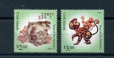 Cook Islands 2016 MNH Year of Monkey 2v Set Chinese Lunar New Year Stamps