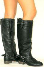 "new woman winter Blacks 1""low heel  sexy combat  knee boots  Size   8.5  p"