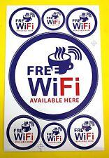 Bogen Aufkleber Sticker Wandtatoo - Free WiFi WLAN verschiedene Größen #W57
