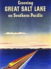 Viajes Transporte Tren Ferrocarril Salt Lake Usa Gran Puente Cool cartel impresión lv4481