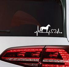 Pferde Aufkleber Herz Schlag Pferd Auto Sticker Heart Beat Horse Decal JDM OEM