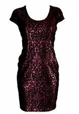 New Just Cavalli, Burgundy/Black sequine party dress L RRP £390