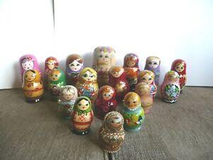 Russian Dolls Job Lot Assorted designs 19 in total