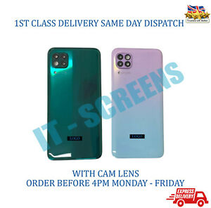 For Huawei P40 Lite JNY-LX1 Rear Glass Back Battery Door Cover With Camera Lens