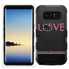 for Samsung Galaxy Note 8 Rugged Hard+Rubber Hybrid Case Hello Kitty #L