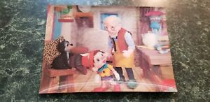 Vintage 3d Postcard Pinocchio And Geppetto