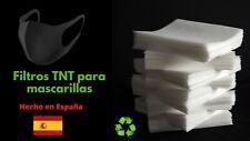 50 filtros TNT para 1mascarillas de tela reutilizables