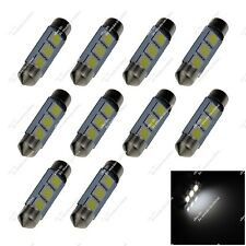 10X White 38MM 39MM 40MM 3 SMD 5050 LED Dome Light Festoon Bulbs Lamp Auto ZI201