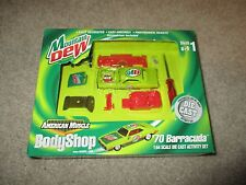 American Muscle Body Shop Mountain Dew '70 Barracuda Diecast Kit 1/64 MIB