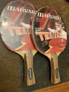 Harvard Tempest Pair Of Ping Pong  Paddles New