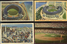 Cleveland Indians Postcards - Vintage 1940 to 1970 ( 5 Total ) Ex. Cond.