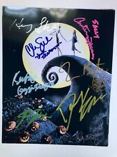 NIGHTMARE BEFORE CHRISTMAS 8x10 photo cast signed by most Burton Elfman auto COA