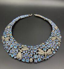 Collier Plastron Strass Vintage Ancien Necklace 1950 1960 Brillant Old Jewels