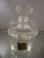 """""""Robinson"""" LARGE LALIQUE PERFUME FLACON WITH RAISED BIRDS, SUPERB! NEW COND."""