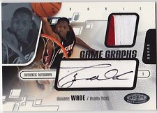 2003-04 Hot Prospects DWYANE WADE Auto Patch RC Rookie Card #d 400