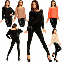 WOMEN'S CLUBBING TOP JUMPER DRESS SEXY SWEATER LADIES PARTY BLOUSE Size 8 10 12