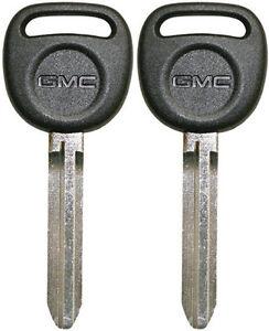2 NEW OEM GM UNCUT BLANK IGNITION KEY BLADE CHEVY GMC ISUZU GMC LOGO 692366