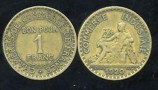 FRANCE  FRANCIA  1 franc  CHAMBRE DE COMMERCE 1920