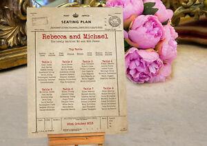 Wedding Seating Table Plan ~Canvas~Board~Paper~ Personalised Telegram Design