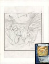Aquaman Punch to the Face Pencil for Painted Card Art 2005 art by Dave Devries