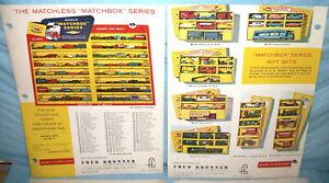 Matchbox Toy Dealer Folder 1962 Lot II NR