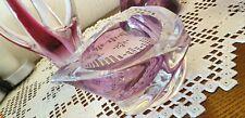 Mid-Century/Vintage: Original St. Lambert-Kristall Aschenbecher, rosa - 1959