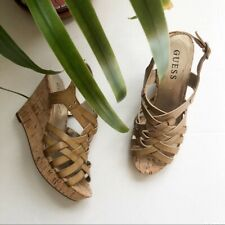 Guess Wedge Tan Sandals size 7