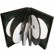 1 x 10-WAY BLACK DVD CD DISC CASE 10WAY MULTIWAY REPLACEMENT SLEEVE WALLET