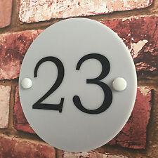 Modern House Sign Plaque Door Number Acrylic Perspex