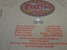 2012 Cowboy Fanfest T-Shirt  Las Vegas   Tracy Lawrence  T Shirt Large  V8