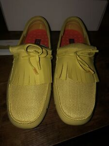 Vintage SWIMS Rubber & Mesh Loafer Boat Shoes Sour Yellow Size 11 (EURO 45) 2013