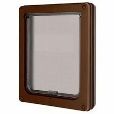 Dog Mate Pet Dog Door Flap Dogs BROWN Lockable 215B - NQP