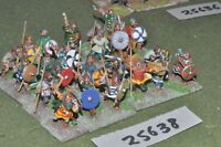 25mm roman era / franks - warriors 24 figures - inf (25638)