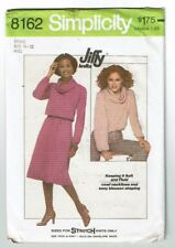 Simplicity #8162 VTG  Stretch Knit Dress or Top with Cowl Neck Pattern Sz 10-12