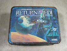 Vintage 1983 Star Wars Return Of The Jedi Thermos Metal Lunchbox Lunch Box