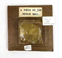 1989 Authentic Berlin Wall Cut Piece Historic Artifact