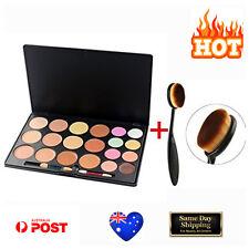 20 Colors Contour Face Cream Concealer Palette + Powder/Foundation Brush Kit