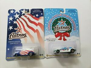 Lot of 2 Houston Astros 2001  Matchbox Promotional Cars, New,