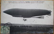 Airship/Dirigible/Blimp 1907 Realphoto French Aviation Postcard: Le Patrie - 2